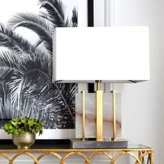 Beautiful in brass. The effortlessly classy Seattle Table Lamp is a wonderful example of Art-Deco at its finest. The block of white alabaster which makes up most of the piece is surrounded by a beautiful brass frame.