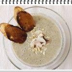 Tekvicovo-šampiňónová polievka s opečenou bagetou