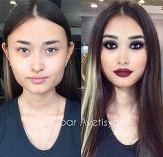 Une nouvelle série qui montre à quel point un bon maquillage peut changer  un visage. Maquillage Avant AprèsMaquillage