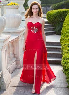 Prom Dresses - $126.99 - Empire Sweetheart Floor-Length Chiffon Prom Dress With Ruffle Beading (018024658) http://jjshouse.com/Empire-Sweetheart-Floor-Length-Chiffon-Prom-Dress-With-Ruffle-Beading-018024658-g24658