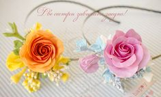 CLAY flowers - rose - Anaber style