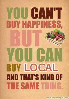If I can't grow it, I'll... buy local!