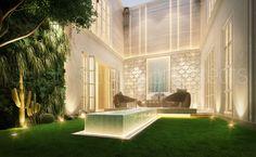 Sarah sadeq architects . Landscaping , private villa uae