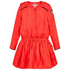 Karl Lagerfeld Kids Girls red military inspired dress available @Childrensalon.