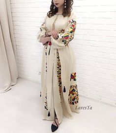 bohemian embroidery Bohemian Linen Dress with gorgeous embroidery. For inquiries what's up 971565517400 Boho Wedding Dress, Boho Dress, Wedding Dresses, Hijab Dress, Off White Dresses, Linen Dresses, Indian Bridal Lehenga, Resort Dresses, Nursing Dress