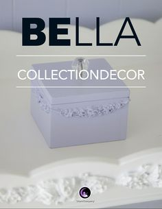 Our Bella Collection Look Book shows off our best shabby chic nursery decor and gifts with embellished appliques on great decor items for boys rooms and girls rooms