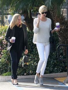 Charlize Theron - Charlize Theron Stops for Coffee with Her Mom