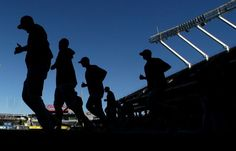 Houston Astros, workout day before Game 5 ALDS at KC, Oct 13, 2015