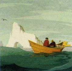 Adventures of the Blackgang — postage stamp from Newfoundland (detail) Newfoundland Canada, Newfoundland And Labrador, Gros Morne, Genre Posters, Boat Drawing, Atlantic Canada, Adventure Photos, Nautical Art, Canadian Artists