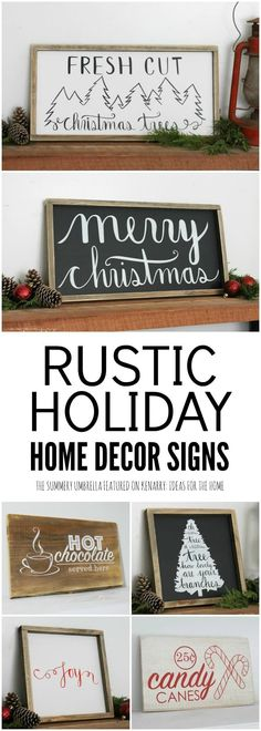 holiday home decor signs would be perfect to hang on your walls to decorate your home for Christmas or winter.These holiday home decor signs would be perfect to hang on your walls to decorate your home for Christmas or winter. Decoration Christmas, Rustic Christmas, Winter Christmas, All Things Christmas, Christmas Wooden Signs, Outdoor Christmas, Fresh Cut Christmas Trees, Xmas Trees, Cheap Christmas
