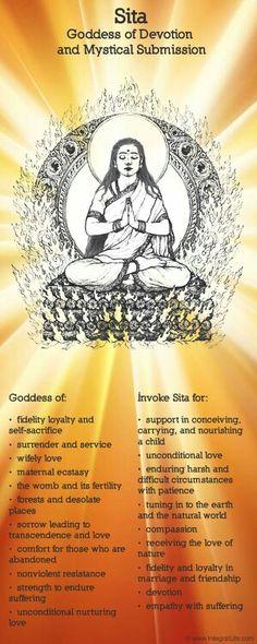 Mythology + Religion: Sita, Hindu Goddess of Devotion and Mystical Submission Wicca, Magick, Mantra, Tarot, Spiritus, Sacred Feminine, Hindu Deities, Indian Gods, Shiva