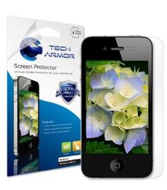 Tech Armor Apple iPhone 4/4S Premium HD Clear Screen Protector with Lifetime Replacement Warranty [3-Pack] - Retail Packaging  Order at http://www.amazon.com/Tech-Armor-Protector-Lifetime-Replacement/dp/B008AST7R6/ref=zg_bs_281407_37?tag=bestmacros-20