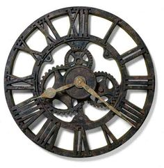 Antique Clocks | antique 21 inch molded polyresin metal wall clock