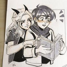 "andythelemon: ""Hi I love them, bring on All my Inktober originals are available here Edit: I forgot Rayla only has 4 fingers…T_T sorry! Dragon Prince Season 3, Prince Dragon, Dragon Princess, Rayla X Callum, Dragon Tales, Netflix, An Elf, Arte Disney, Legend Of Korra"