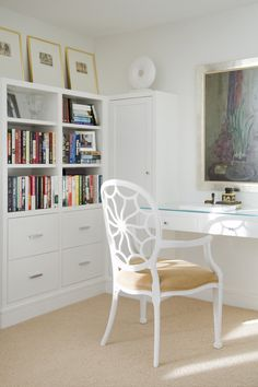 all white workspace.