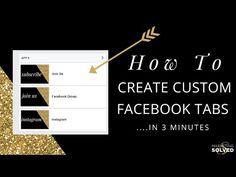 How to Create Custom Facebook Tabs in 3 Minutes // MarketingTV // - Marketing Solved