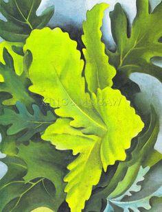 Green Oak Leaves Art Print by Georgia O'Keeffe at King & McGaw