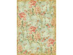 Рисовая бумага для декупажа Stamperia DFSA4010 Орнамент и розы, винтаж, формат А4, купить - магазин АртДекупаж