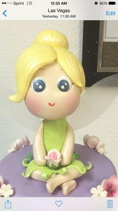 Tinkerbell Fondant Cake Topper ❤️