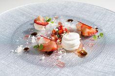 Stones Events - Stunning Pre Dessert - British Strawberries, Balsamic, Meringue