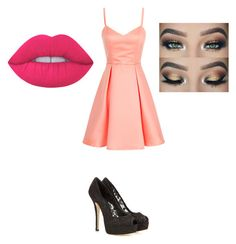 """""""PRoM💋"""" by kayla1021 ❤ liked on Polyvore featuring Dolce&Gabbana and Lime Crime"""