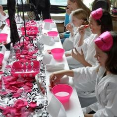 12 Most popular birthday party themes, including the Spa birthday party ideas