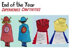 End of the Year Superheroes Craftivities!