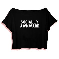 Crop Top Socially Awkward. Buy 1 Get 1 Free Tumblr Crop Tee as seen on Etsy, Polyvore, Instagram and Forever 21. #tumblr #cropshirts #croptops #croptee #summer #teenage #polyvore #etsy #grunge #hipster #vintage #retro #funny #boho #bohemian