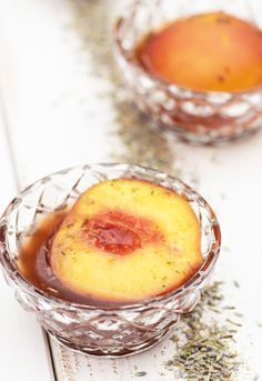 Sous Vide Peaches with Lavender
