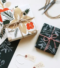Pretty packaging! Rifle Paper Co. wrap available at Rock Paper Scissors Ann Arbor - www.rockpaperscissorsshop.com.
