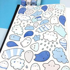 = Translation: kawaii rain clouds equal true blue love