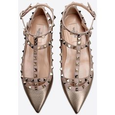Rockstud Ballet Flat (2,805 PEN) ❤ liked on Polyvore featuring shoes, flats, skimmer shoes, ballerina pumps, ballet flat shoes, ballet shoes flats and ballet pumps