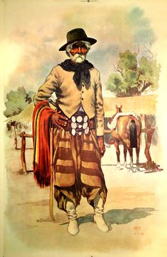 a gaucho is an Argentinian vagabond who herded cattle and wore awesome clothes
