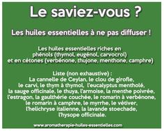 Les huiles essentielles à ne pas diffuser Essential Oil Blends, Essential Oils, Utila, Natural Medicine, Doterra, Healthy Tips, Good To Know, Natural Health, Aromatherapy