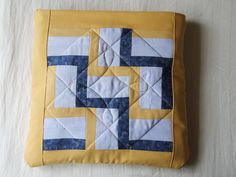 "The quilt is folded inside the pillow which measured about 16"" / 40cm square."