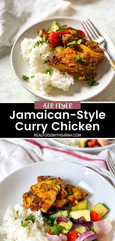 Real Food Recipes, Chicken Recipes, Healthy Recipes, How To Make Curry, Air Fryer Recipes Keto, Jamaican Curry Chicken, Peanut Curry, Jamaican Dishes, Chicken And Waffles