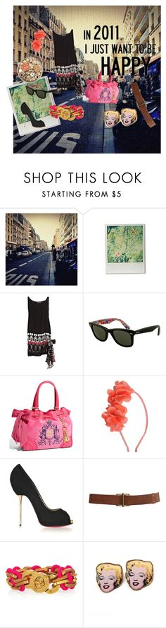 Girly Friday by dame-j on Polyvore featuring Thomas Wylde, Christian Louboutin, Juicy Couture, Tarina Tarantino, Marc by Marc Jacobs, Ray-Ban and Urban Outfitters