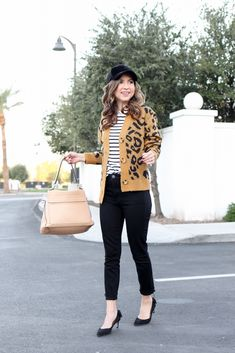 6b2d85ec2ec How to print mix - leopard and stripe outfit - casual chic outfit - simply  sutter