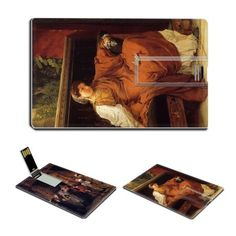 Leaving the Church in the Fifteenth Lesbia Weeping over a Sparrow by Lawrence Alma-Tadema Oil Painting USB Flash Drive - www.dealok.com