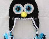 Penguin Crochet Hat - Baby Hat  I think I will make this for Kenna for Christmas since her Uncle Phillip likes penguins ;)