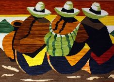 Bordados a mano, Alfombras, cojines , Lucrecia saenz, pinturas ... South American Art, Native American Art, Red Indian, Easy Canvas Painting, Cross Stitch Pictures, Mexican Art, Bargello, Hand Embroidery, Diy And Crafts