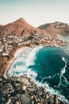 Llandudno Beach in Cape Town, South Africa Cape Town Photography, Drone Photography, Places To Travel, Places To See, Travel Destinations, Places Around The World, Around The Worlds, Wonderful Places, Beautiful Places
