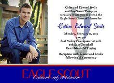 Eagle Scout Invitation-Commitment photo design
