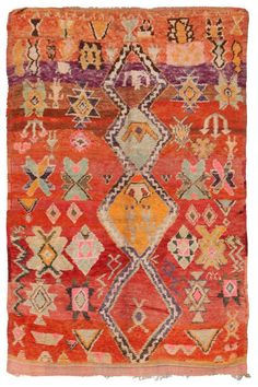 Rugs – Home Decor : Vintage Moroccan Rug - Decor Object Textiles, Persian Carpet, Persian Rug, Morrocan Decor, Moroccan Rugs, Magic Carpet, Carpet Runner, Floor Rugs, Kilim Rugs