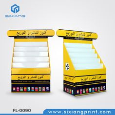 5 Tiers POP Cardboard Book Display Stand For Bookstore