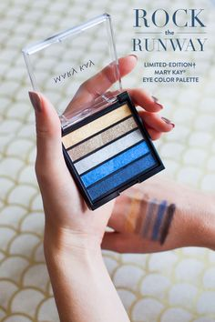 Metallic shadows in gold, bronze, silver and blue create a modern, eye-catching summer makeup look. | Mary Kay