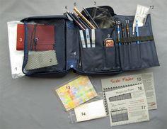 Billie's Craft Room travel kit in a W&N Travel Bag