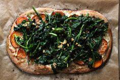 Broccoli Rabe and Sweet Potato Flatbread | Lattes & Leggings