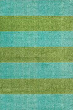 Soho Rugs | Outdoor Rugs | Lined Up Aqua Lime Rug