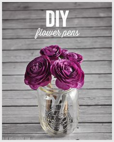 You can also liven up your desk in class or at home with a pen bouquet. | 15 Genius DIYs To Keep Your Stuff From Getting Lost At School